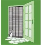 Pásky proti hmyzu na dvere 220*100cm biele, 28 cm*4 pásky-220cm