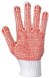 Bezpečnostné rukavice bodkované, červené, extra