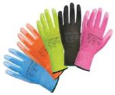 Nylon bezpečnoctné rukavice, farebné