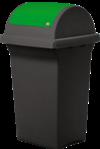 Nádoba na recyklačný odpad – zelená 50L