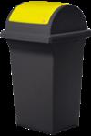 Nádoba na recyklačný odpad – žltá 50L