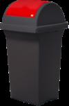 Nádoba na recyklačný odpad – červená 50L
