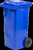 Nádoba na recyklačný odpad dvojkolečková, modrá 120L