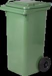 Nádoba na recyklačný odpad dvojkolečková, zelená 240L