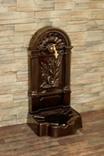 FIRENZE ozdobná studňa nástenná, hammer farba bronz