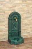 FIRENZE ozdobná studňa nástenná, anticko zelená