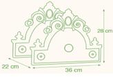 TOSCANA držiak na zavlažovaciu hadicu anticko zelená
