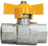 Guľový ventil na plyn FF 1/2