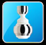 Guľovitý ohybný perlátor so sporičom vody, biely-chróm