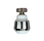 Guľovitý ohybný perlátor biely-chrom
