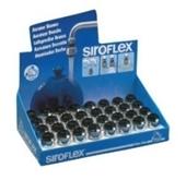 Guľovitý ohybný perlátor čierny-chrom v krabici (32 kusov)