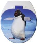 WC sedák kombinovaný s motívom tučniak