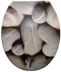 Duroplast WC sedák, sivý kameň