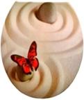 Duroplast WC sedák, béžový kamen, motýlik