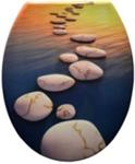 Duroplast WC sedák, západ slnka s kameňom