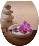 Duroplast WC sedák, orchidea, kameň